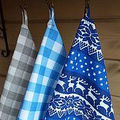Для дома и интерьера handmade. Livemaster - original item Kitchen towels Scandinavia blue. Handmade.