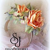 Украшения ручной работы. Ярмарка Мастеров - ручная работа Ободок с розами из фоамирана. Handmade.