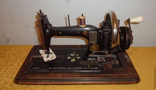 Шитье ручной работы. Ярмарка Мастеров - ручная работа. Купить Старинная швейная машина фирмы Хауман.Антиквариат.. Handmade. Черный