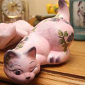 "Куклы и игрушки handmade. Livemaster - original item Ceramic cat figurines, from the collection ""Cat stories"". Handmade."
