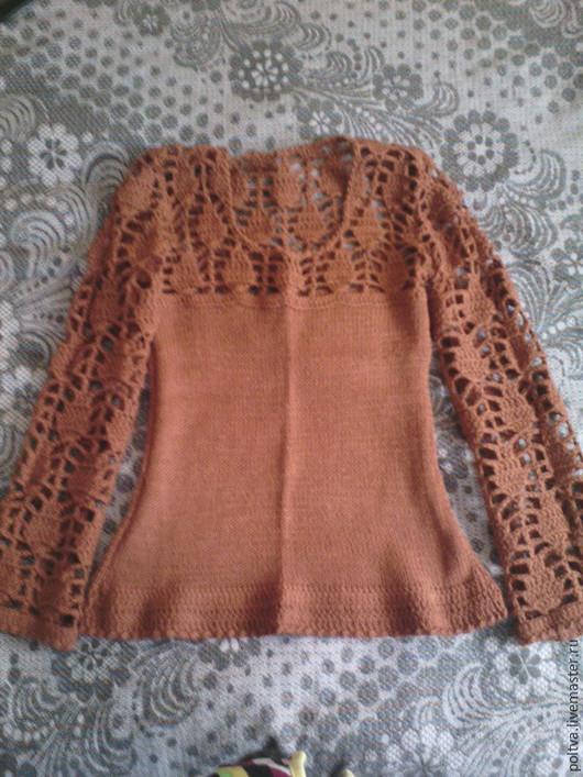 Кофты и свитера ручной работы. Ярмарка Мастеров - ручная работа. Купить свитер. Handmade. Коричневый, терракотовый