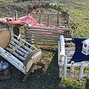Сувениры и подарки ручной работы. Ярмарка Мастеров - ручная работа Кроватка из березы и гнезда, реквизит для фотосессии. Handmade.