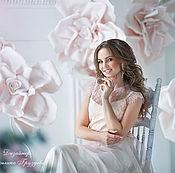 """Одежда ручной работы. Ярмарка Мастеров - ручная работа """"Бутон прекрасной розы"""" свадебное платье из Шантильи. Handmade."""