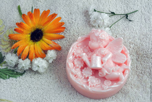 Сувенирное мыло `Феечка с леечкой`