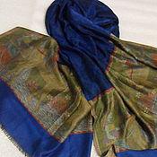 Винтаж handmade. Livemaster - original item Elegant stole,a silk with pashmina,vintage Nepal. Handmade.
