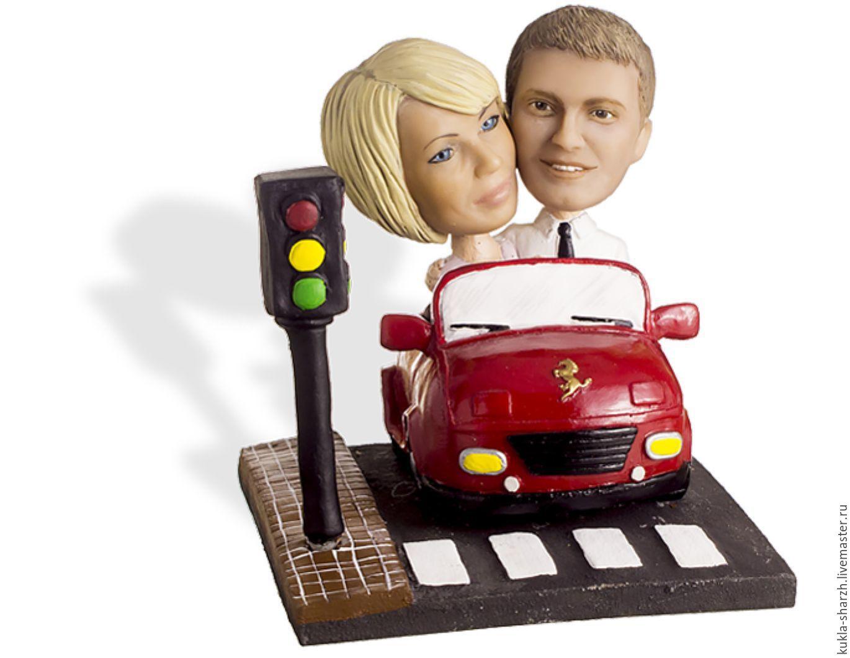 Портретная статуэтка в подарок паре «На машине», Куклы, Москва, Фото №1
