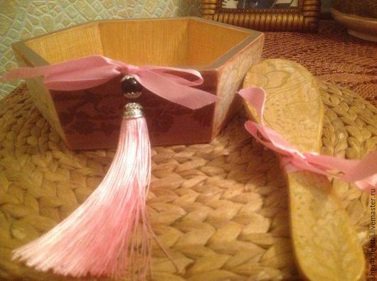 """Корзины, коробы ручной работы. Ярмарка Мастеров - ручная работа. Купить Дамский набор""""Будуар"""". Handmade. Коробка для мелочей, заготовка из дерева"""