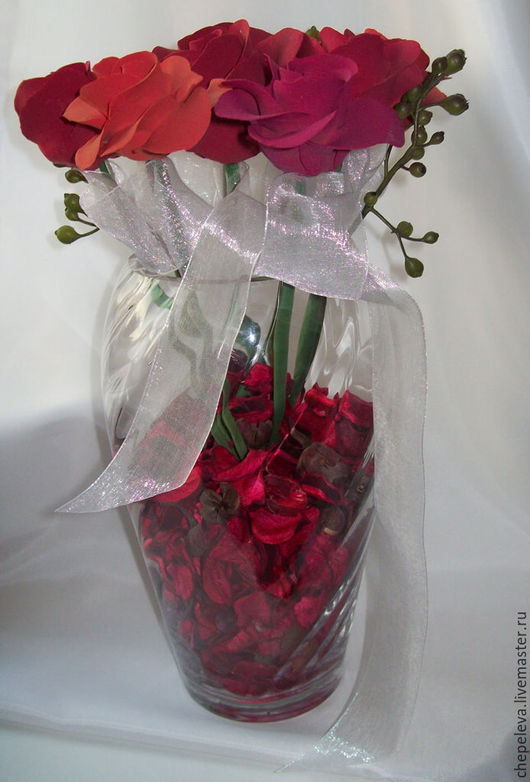 Цветы ручной работы. Ярмарка Мастеров - ручная работа. Купить Лепестки роз. Handmade. Разноцветный, красные розы