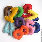 Куклы и игрушки ручной работы. Ярмарка Мастеров - ручная работа Набор цифр из фетра. Handmade.