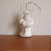 Подарки к праздникам ручной работы. Ярмарка Мастеров - ручная работа Снегурочка.Ватные елочные игрушки. Handmade.