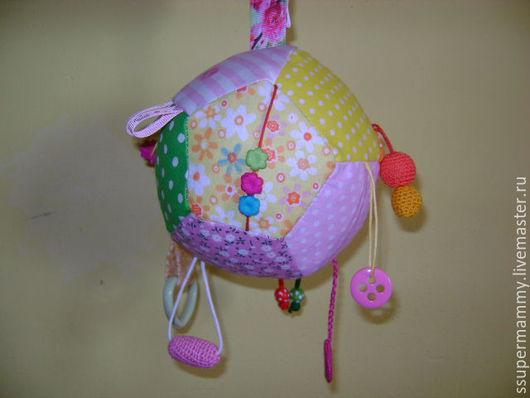 Развивающие игрушки ручной работы. Ярмарка Мастеров - ручная работа. Купить Развивающий мячик для девочки. Handmade. Комбинированный, развивающие игрушки