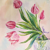 Картины и панно ручной работы. Ярмарка Мастеров - ручная работа Тюльпаны. Handmade.
