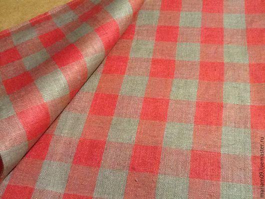 Текстиль, ковры ручной работы. Ярмарка Мастеров - ручная работа. Купить Льняная Красная Скатерть и 2 наволочки на диванные подушки. Handmade.