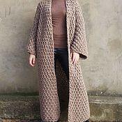 Одежда ручной работы. Ярмарка Мастеров - ручная работа Пальто вязаное KoRa. Handmade.