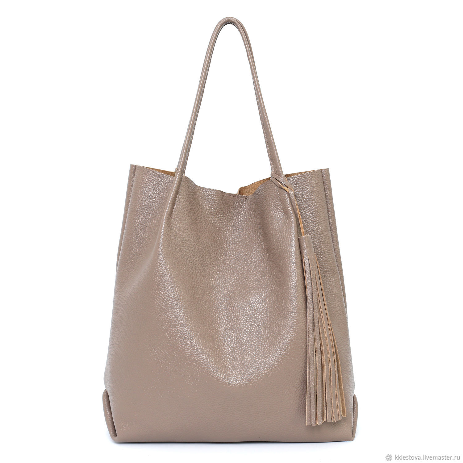 Cappuccino Taupe Bag Tote shopper Pack a medium Coffee with milk, Tote Bag, Moscow,  Фото №1