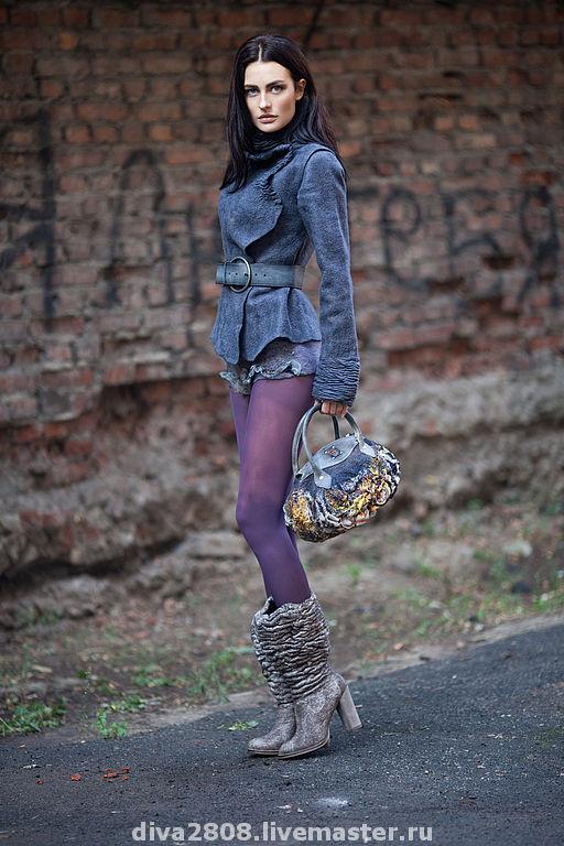 Blazers & Jackets handmade. Livemaster - handmade. Buy Jacket 'Stranger'.The author's work, felted jacket, Italian merino