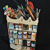 Органайзеры ручной работы. Ярмарка Мастеров - ручная работа Органайзер для художников. Handmade.