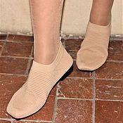 Туфли ручной работы. Ярмарка Мастеров - ручная работа Туфли: С квадратным носиком, облегающие эластичные. Handmade.