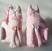Куклы и игрушки ручной работы. Ярмарка Мастеров - ручная работа розовые котики. Handmade.