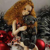 Куклы и игрушки ручной работы. Ярмарка Мастеров - ручная работа Доротея (шарнирная куколка из флюмо). Handmade.