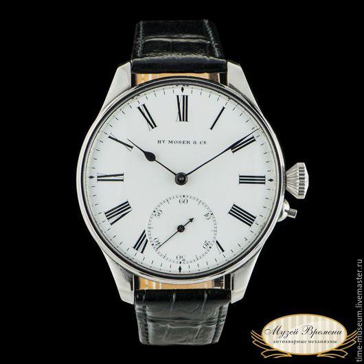 Часы ручной работы. Ярмарка Мастеров - ручная работа. Купить Оригинальные швейцарские часы Henry Moser 1929 год выпуска. Handmade. для него