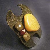 Украшения ручной работы. Ярмарка Мастеров - ручная работа DOUCET - Кованое кольцо из меди и янтаря. Handmade.