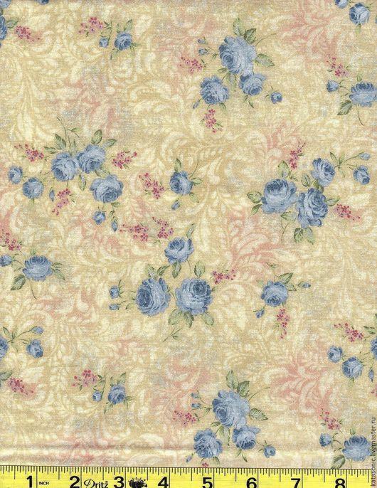 Шитье ручной работы. Ярмарка Мастеров - ручная работа. Купить 1263 Американская ткань. Handmade. Бежевый, ткань с цветами