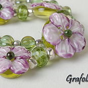 Украшения handmade. Livemaster - original item Bracelet Pink viola. Handmade.