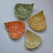 """Посуда ручной работы. Ярмарка Мастеров - ручная работа Подставки для украшений """"Листья тополя"""". Handmade."""
