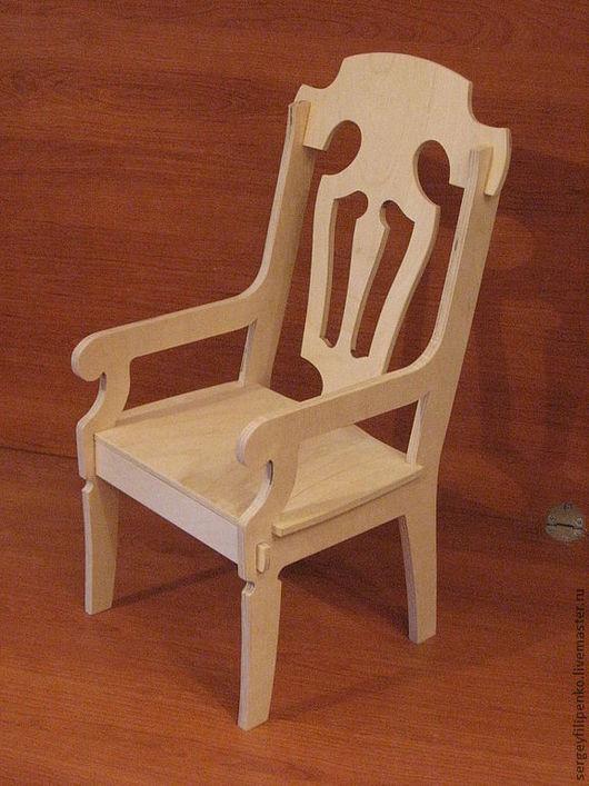 Кукольный дом ручной работы. Ярмарка Мастеров - ручная работа. Купить стул3 с подлокотниками для куклы 64см.. Handmade. Кукольная мебель
