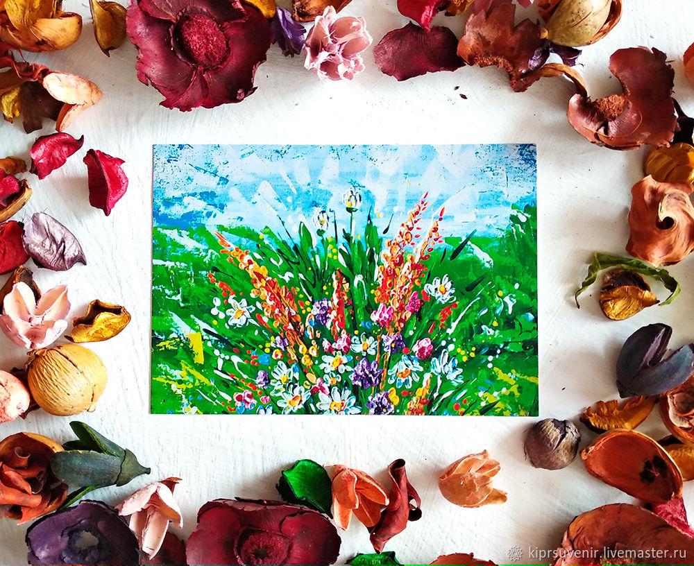 Почтовая открытка с цветами. Посткроссинг открытка. Открытка почтовая, Открытки, Нижний Новгород,  Фото №1