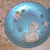 """Посуда ручной работы. Ярмарка Мастеров - ручная работа Тарелка """"Наивный мишка"""". Handmade."""
