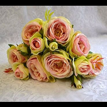 Материалы для творчества ручной работы. Ярмарка Мастеров - ручная работа Искусственные цветы Розы 13 голов. Handmade.