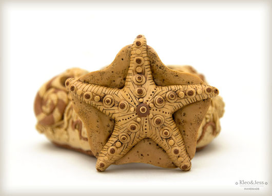 """Шкатулки ручной работы. Ярмарка Мастеров - ручная работа. Купить Оригинальная шкатулка """"Морская звезда"""". Handmade. Бежевый, песочный"""