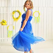 Одежда ручной работы. Ярмарка Мастеров - ручная работа Воздушное платье с воланом из фатина. Handmade.