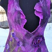 """Одежда ручной работы. Ярмарка Мастеров - ручная работа нуновойлочный жилет """"Лиловое настроение """". Handmade."""