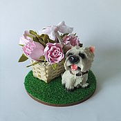 Сувениры и подарки handmade. Livemaster - original item Miniature dog West highland white Terrier. Handmade.