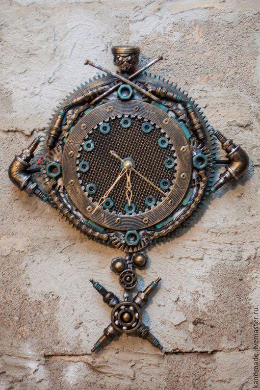 """Часы для дома ручной работы. Ярмарка Мастеров - ручная работа. Купить Часы """"Техно Арт 4"""" (настенные). Handmade. Комбинированный"""