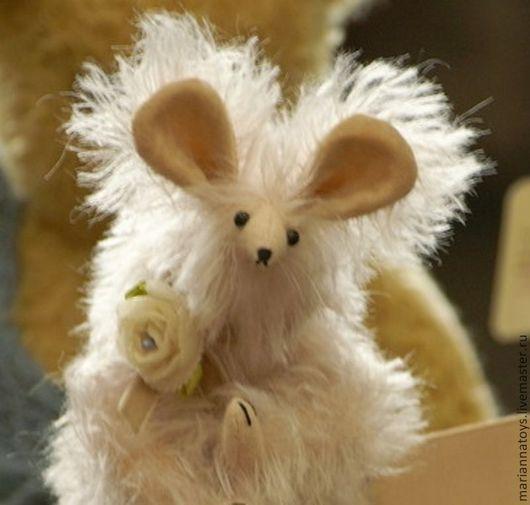 Мишки Тедди ручной работы. Ярмарка Мастеров - ручная работа. Купить Мышь Розалина. Handmade. Розовый, мышка, мохер