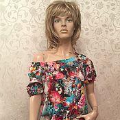 """Платья ручной работы. Ярмарка Мастеров - ручная работа Платье с открытыми плечами """"Танец цветов"""". Handmade."""