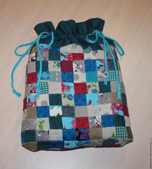 Подарочная упаковка ручной работы. Ярмарка Мастеров - ручная работа. Купить Лоскутный мешочек из натуральных тканей. Handmade. Мешочек для хранения
