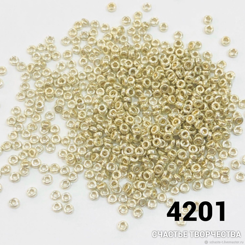 4201 Miyuki Spaser  круглый-бублик 11/0(2,2х1мм)5г, Бисер, Москва,  Фото №1