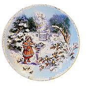 Посуда ручной работы. Ярмарка Мастеров - ручная работа Декоративная тарелка «Зимняя сказка». Handmade.