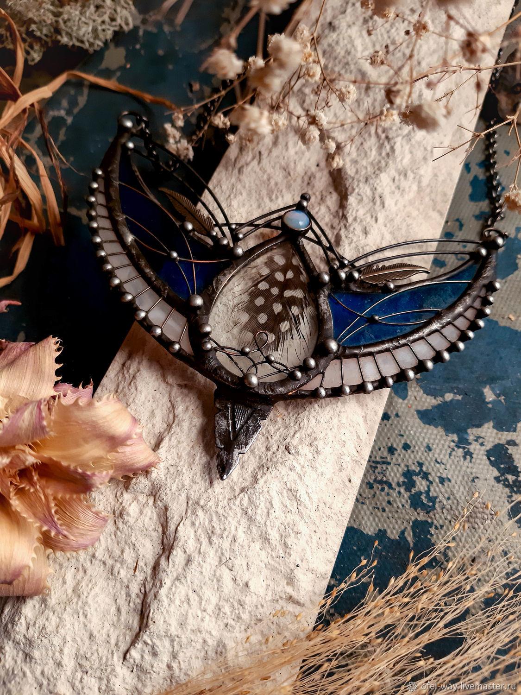 Lunnitsa 'Blue Bird' (pl-073), Necklace, St. Petersburg,  Фото №1