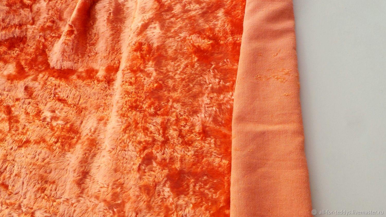 Плюш для Тедди винтажный светло-оранжевый (64х34см) СССР 1950-60-е, Материалы, Санкт-Петербург, Фото №1
