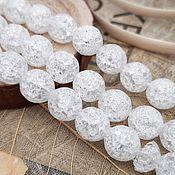 Материалы для творчества handmade. Livemaster - original item Quartz crackle beads 8 mm (art. 2491). Handmade.