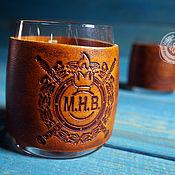 Посуда handmade. Livemaster - original item Three personalized whiskey glasses with coasters. Handmade.