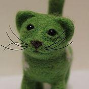 """Куклы и игрушки ручной работы. Ярмарка Мастеров - ручная работа Войлочная игрушка """"Ромашковый Кот"""". Handmade."""