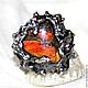 """Кольца ручной работы. Ярмарка Мастеров - ручная работа. Купить Кольцо """"Сердце и Пепел"""". Handmade. Ярко-красный, сердце"""