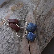 Украшения handmade. Livemaster - original item Earrings with lapis lazuli pads in silver. Handmade.